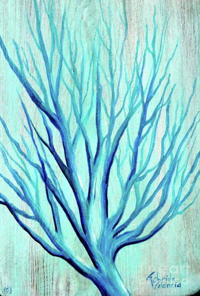 Wall Art - Painting - Bue Coral by Gabriela Valencia
