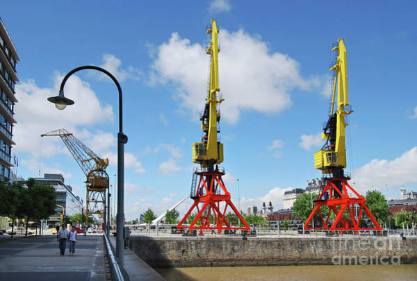 Photograph - Buenos Aires - Argentina - Cranes Of Puerto Madero by Carlos Alkmin