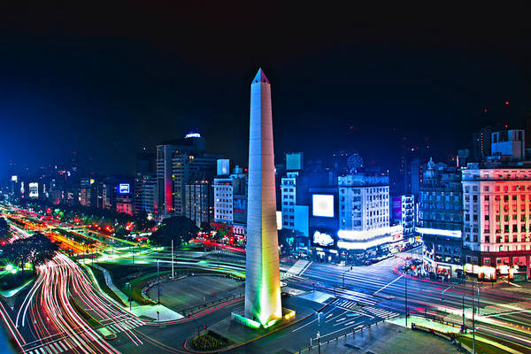 Skyline Digital Art - Buenos Aires by Super Lovely