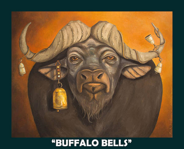 Painting - Buffalo Bells With Lettering by Leah Saulnier The Painting Maniac