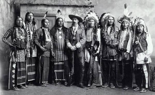 Wall Art - Photograph - Buffalo Bill And Indian Troupe C. 1888 by Daniel Hagerman