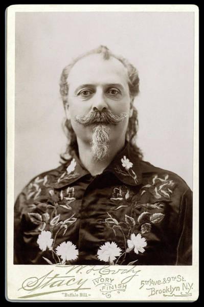 Wall Art - Photograph - Buffalo Bill Cody Cabinet Card Portrait  C. 1895 by Daniel Hagerman