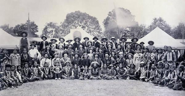 Wall Art - Photograph - Buffalo Bill Wild West Show Cast 1883 by Daniel Hagerman