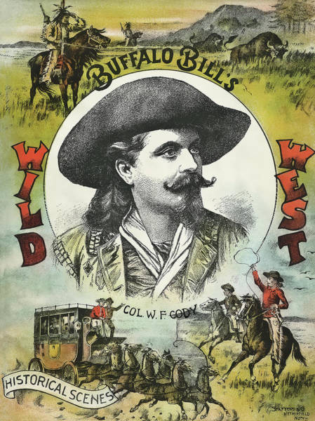 Wall Art - Photograph - Buffalo Bill Wild West Show Program Cover C, 1890 by Daniel Hagerman