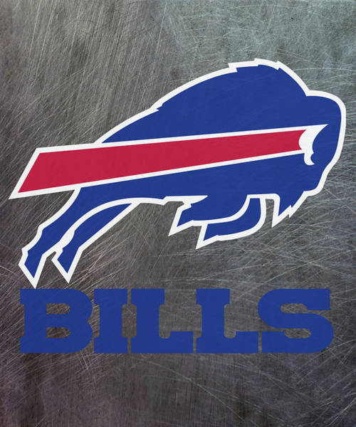 Mixed Media - Buffalo Bills On An Abraded Steel Texture by Movie Poster Prints