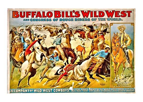Digital Art - Buffalo Bill's Wild West by John Feiser
