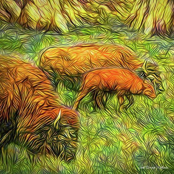Orange County Digital Art - Buffalo Calf Journey by Joel Bruce Wallach