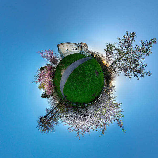 Photograph - Buffalo Cherry Blossoms - Tiny Planet 2 by Chris Bordeleau