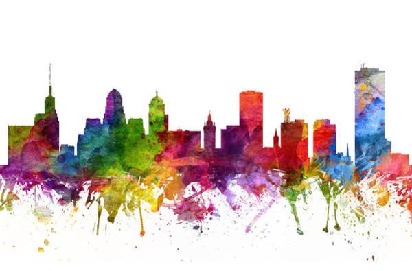 Wall Art - Digital Art - Buffalo Cityscape 06 by Aged Pixel