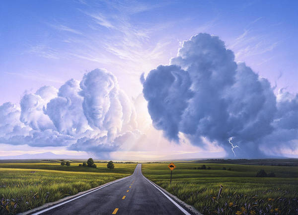 Lightning Painting - Buffalo Crossing by Jerry LoFaro