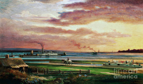 Wall Art - Painting - Buffalo Harbor From The Foot Of Porter Avenue, 1871 by Lars Gustaf Sellstedt