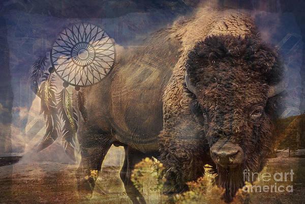 Digital Art - Buffalo Medicine 2015 by Kathryn Strick