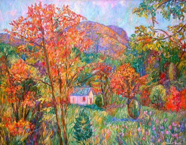 Painting - Buffalo Mountain In Fall by Kendall Kessler