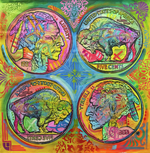 Buffalo Nickel Reflect by Dean Russo Art