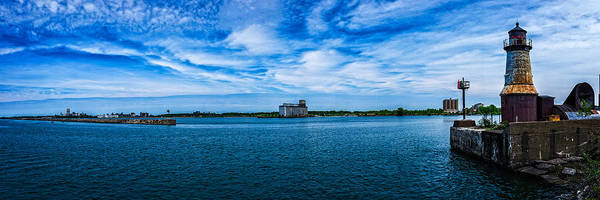 Photograph - Buffalo Outer Harbor From South Entrance Light by Chris Bordeleau
