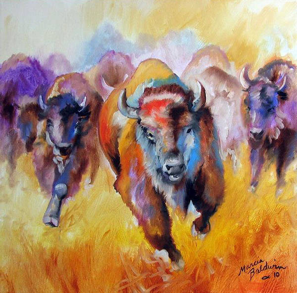 Painting - Buffalo Run 16 by Marcia Baldwin