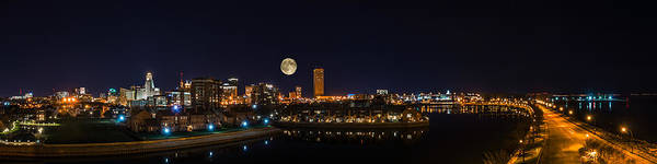 Photograph - Buffalo Skyline At Night by Chris Bordeleau
