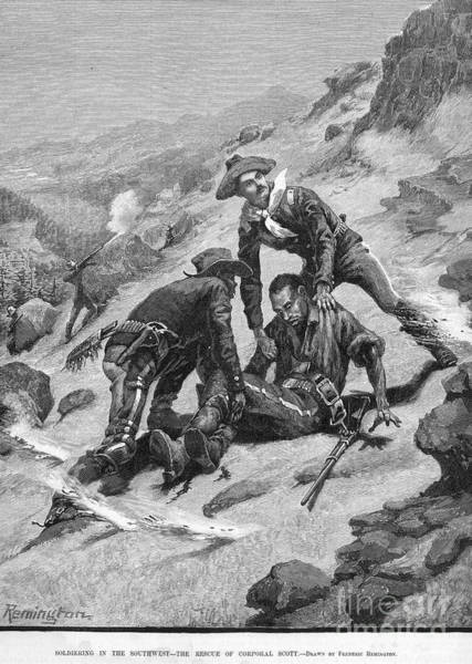 Remington Photograph - Buffalo Soldier, 1886 by Granger