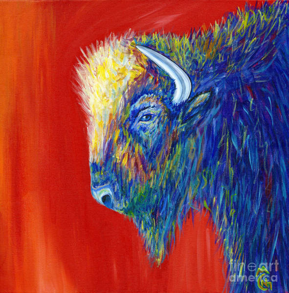 Wall Art - Painting - Buffy The Bison by Nicolette Maw