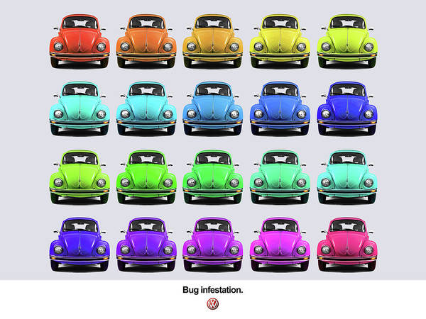 Volkswagen Wall Art - Photograph - Bug Infestation. by Mark Rogan