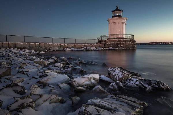 Photograph - Bug Light Blue Hour by Colin Chase
