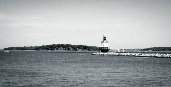 Wall Art - Photograph - Bug Light Lighthouse Black And White by Debra Forand