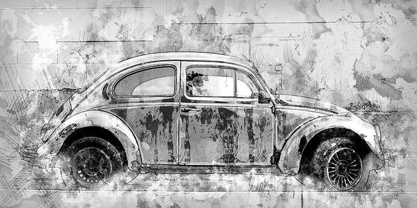 Car Drawings Mixed Media - Bug by Melissa Smith