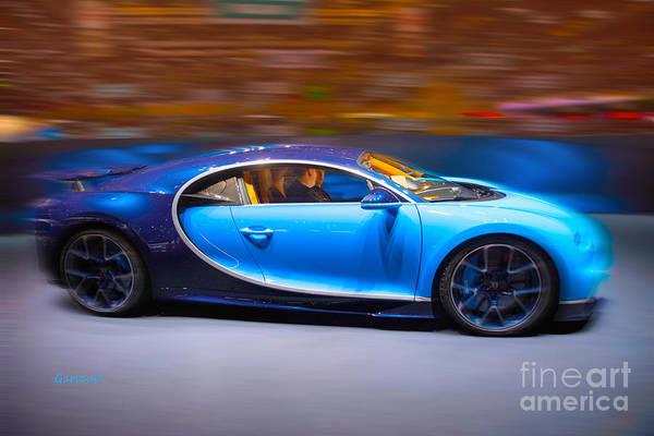 Super Car Mixed Media - Bugatti Chiron 3 by Garland Johnson