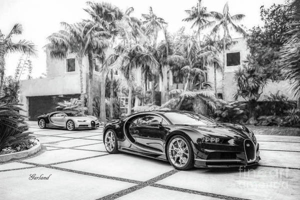 Super Car Mixed Media - Bugatti Chiron 5 by Garland Johnson