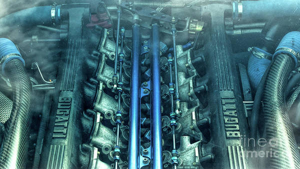 Photograph - Bugatti Eb110 V12 Engine by Tim Gainey