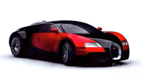 Maserati Painting - Bugatti Veyron by John Springfield