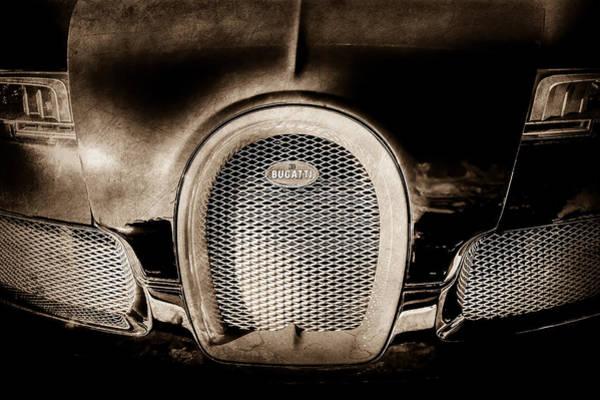 Photograph - Bugatti Veyron Legend Grille Emblem -0488s by Jill Reger