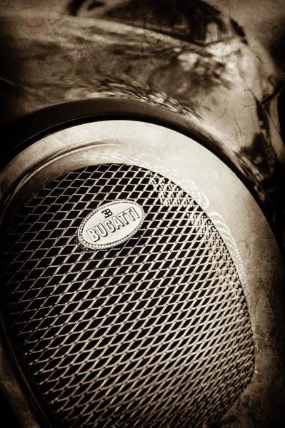 Photograph - Bugatti Veyron Legend Grille Emblem -0514s by Jill Reger