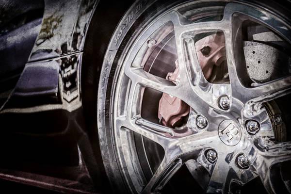 Photograph - Bugatti Veyron Legend Wheel -0532ac by Jill Reger
