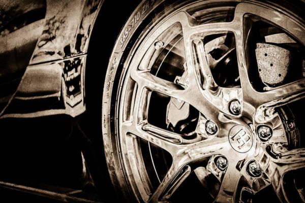 Photograph - Bugatti Veyron Legend Wheel -0532s by Jill Reger