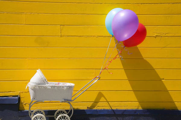 Yellow Photograph - Buggy And Yellow Wall by Garry Gay