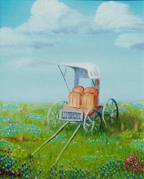 Painting - Buggy In Spring. by Gene Gregory