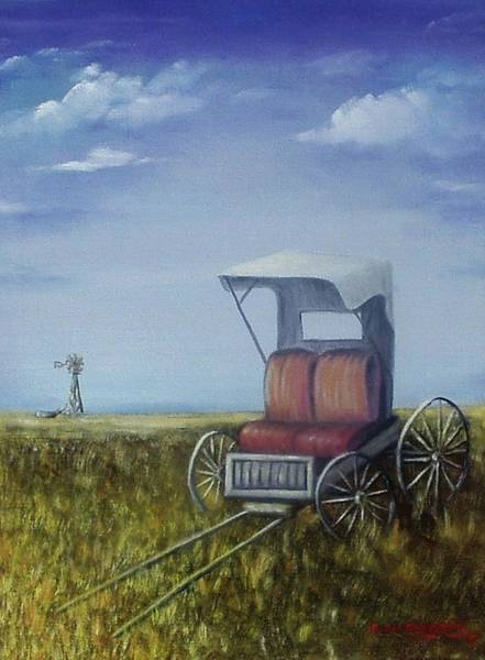 Painting - Buggy In Winter by Gene Gregory