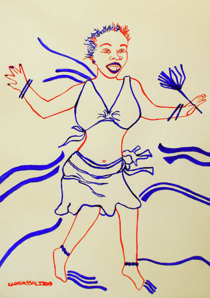 Painting - Bugisu Dance Uganda by Gloria Ssali