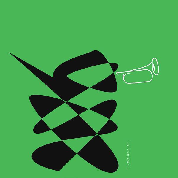 Digital Art - Bugle In Green by David Bridburg