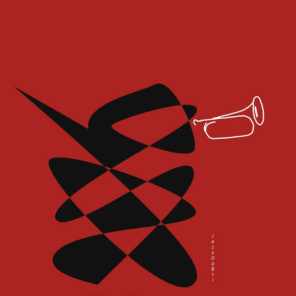 Digital Art - Bugle In Orange Red by David Bridburg