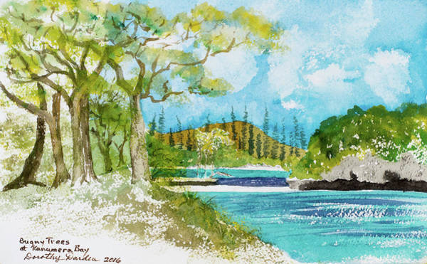 Painting - Bugny Trees At Kanumera Bay, Ile Des Pins by Dorothy Darden