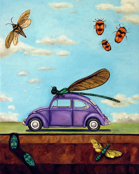 Firefly Painting - Bugs by Leah Saulnier The Painting Maniac