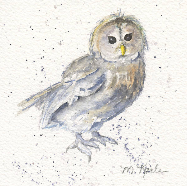 Painting - Buhma - Tawny Owl by Marsha Karle