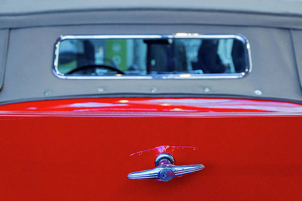 Photograph - Buick Lasalle Rear Window by Stuart Litoff