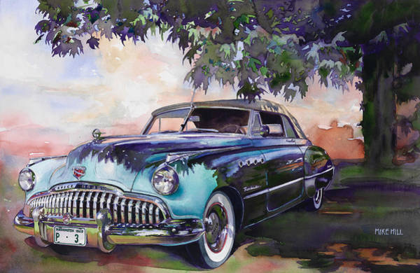 Collector Car Painting - Buick Roadmaster Dynaflow 1949 by Mike Hill