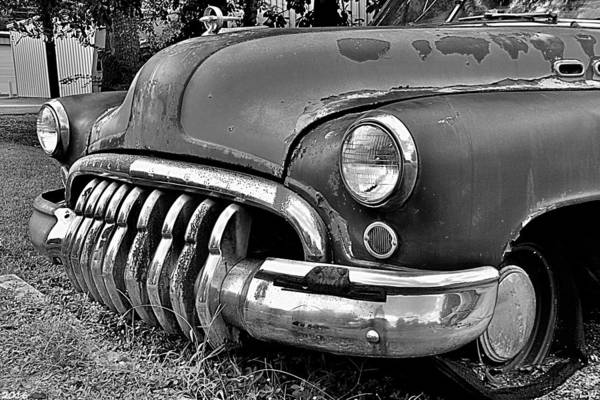 Photograph - Buick Super Black And White by Lisa Wooten