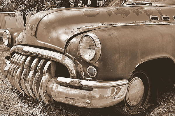 Photograph - Buick Super Sepia 2 by Lisa Wooten