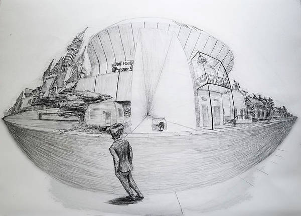 Trailer Drawing - Building A Life by Matthew Fields