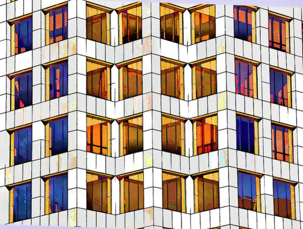 Diagonal Digital Art - Building Abstract IIid by Linda Brody